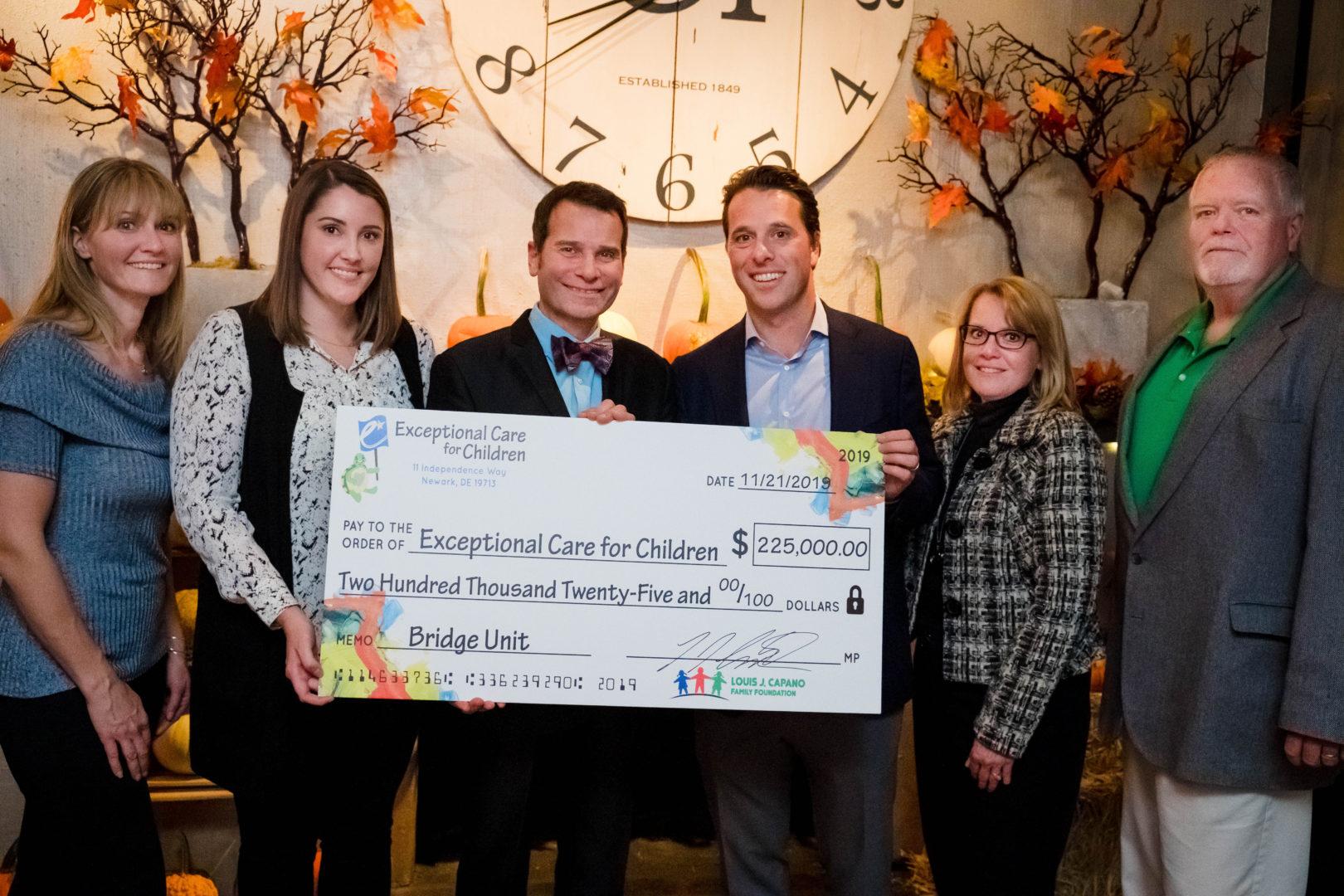 Louis Capano Family Foundation Donates $225,000 to ECC